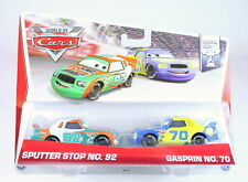DISNEY CARS Piston Cup 2 pack SPUTTER STOP + GASPRIN 1:55 diecast toys - NEW!