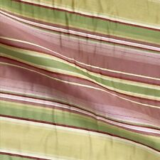 "Pink Citron Luxury Stripe Upholstery Fabric - 54"""