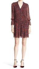 New! $489 Diane von Furstenberg 'Kourtni' Silk Shirtdress Size 4