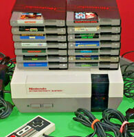Original NES Bundle Nintendo System 14 Great Games 2 Controllers Great Lot Look