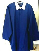 Oleg Cassini Dress Shirt-size 19 tall, blue & white--Hidden button flap panel