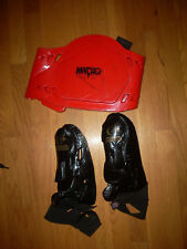 Lot 3 Martial Arts Chest/Pads Gear/ Hero Costume Boys Ym M +with Free Mask