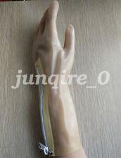 Latex Gloves Rubber Fünf Finger mit weißem Reißverschluss 0.4mm Size S-XXL