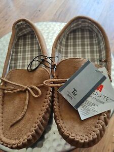 Mens Thinsulate Moccasin Slippers Size 10 Bnwt