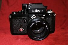 NIKON F2-AS F2AS BLACK con DP-12 DP12 e Nikkor Ai 50mm F1,4