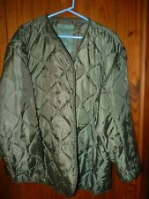 Men's Field Coat Lining Only Olive Drab Size XL MegaForce