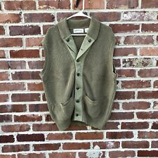 Orvis Cotton Vest Men's Large Cardigan L Sweater Vest