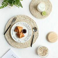 Corn Fur Woven Dining Table Mat Heat Insulation Pot Holder Round Coasters /-