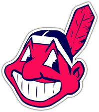 "Cleveland Indians MLB Baseball Car Bumper Window Sticker Decal 4""X5"""
