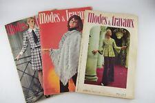 Lot of Modes et Travaux 1970-1973 Fashion Magazine Pattern Paris France French