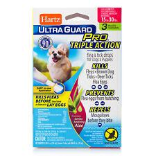 Hartz Ultra Guard Pro FLEA & TICK DROPS for Dogs & Puppies 15-30 LBS Remedies