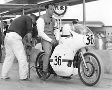 OLD LARGE PHOTO, John Zwerican on his Harley Davidson motorcycle, Daytona 1966