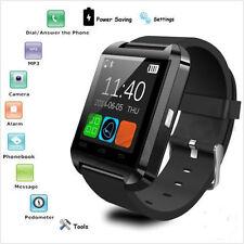 Elegante negro del reloj de la cámara de Bluetooth para Android y IOS Iphone