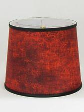 "Albert Estate LTD, Red Pattern Shade, 14"" Washer Fitter"