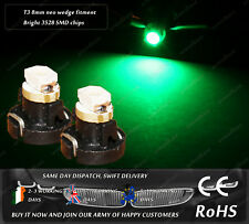 LED SMD T3 8mm Neo Wedge 39397 Green Dashboard Cluster Speedometer Light Bulbs