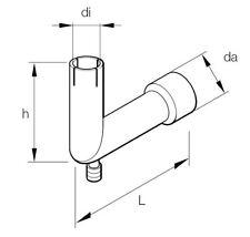 Espar Exhaust adapter Bend 24mm 90° (251226894500)