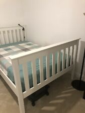 Small double size  white bed frame - used 4