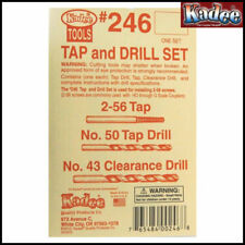 Kadee No 246 - Tap & Drill Set - For Use With 2-56 Screws
