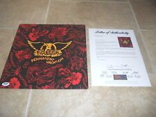 Aerosmith Band Signed Autograph Permanent Vacation LP Album All 5 PSA Certified