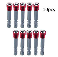 10pc 65mm 1/4Inch Hex Shank Cross Magnetic Plasterboard Drywall Screwdriver Bit