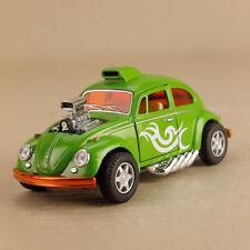 Light Blue VOLKSWAGEN Beetle Custom Drag Racer Model Car 1 32 12cm Pull-back VW