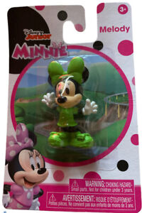 """Disney Junior Minnie 2.25"""" Figure PVC, Just Play, Melody Mouse New, Green"""
