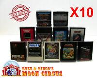 10x ATARI 2600 GAME CARTRIDGE CLEAR PLASTIC PROTECTIVE BOX PROTECTOR SLEEVE CASE