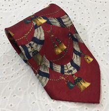Mondo Uomo Multi-Color Bells 100% Silk Neck Tie Made In ITALY NICE!