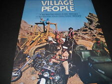 Village People are #1 Top Pop and #1 Top. 1978 Promo Poster Ad mint condition