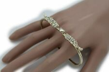 New Women Ring Gold Metal One Size Angel Wings Heart 4 Fingers Fashion Jewelry