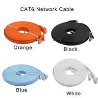 1-10m RJ45 CAT6 Ethernet Network LAN Cable Flat UTP Patch Router Interesting Lot