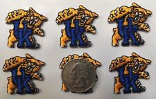 "University of Kentucky Wildcats UK patches iron-on 1 1/8"" tall (6 piece lot)"