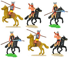 Timpo Swap-Type Mounted Vikings - 6 in 3 pose types - 54mm unpainted