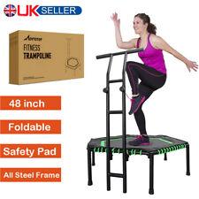 """MOVTOTOP 48"""" Folding Mini Trampoline Trainer Rebounder For Women Men Kid Fitness"""