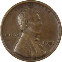 1921 S Lincoln Wheat Cent XF EF Extremely Fine Bronze Penny 1c Coin Collectible