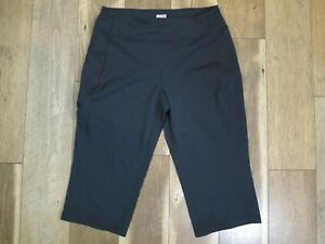 Duluth Trading 15772 Women's Black Nylon/Spandex Zip Pocket Crop Pants Sz M