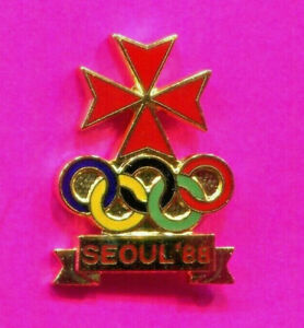 1988 SEOUL OLYMPIC PIN MALTA NOC PIN NATIONAL OLYMPIC COMMITTEE PIN