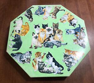 1968 Vintage SPRINGBOK Octagonal Puzzle 500 pc KITTENS OCTAGON Girard Goodenow