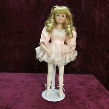 "Dynasty Doll Collection Porcelain Ballerina 17"" with Stand"