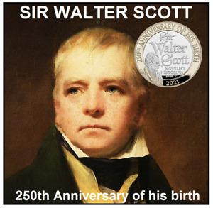 £2 Scottish novelist Sir Walter Scott, B/UCOIN TAKEN FROM 2021COIN SET IN HAND