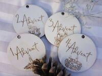 Holzscheiben Adventskranz 4er Set
