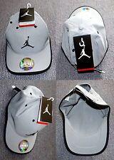 NEW Authentic Michael Air Jordan Jumpman Logo Basketball Grey/Silver Cap Hat Tag