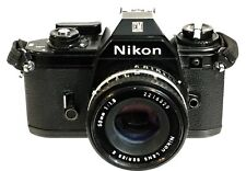 VINTAGE CAMERA NIKON EM 35mm WITH SERIES E 50mm 1:1.8 LENS ORIGINAL STRAP.