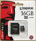 Kingston 16GB Micro SD SDHC Memory Card & Adapter For Samsung J1 Ace J2 J3 J5 J7