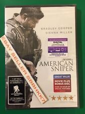 American Sniper (2 disc DVD + DIGITAL) AUTHENTIC Brand New Free Shipping