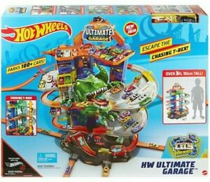 Hot Wheels City Robo T-Rex Ultimate Garage Multi-Level Ages 5+ Toy Play Race Car