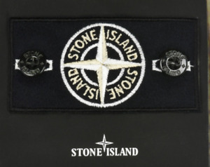stone island badge silver rare with buttons