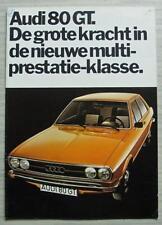 AUDI 80 GT Car Sales Brochure Aug 1973 DUTCH TEXT #0652 001 10 02 160 - 8/73