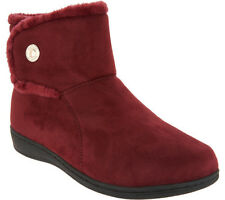 VIONIC with Orthaheel Technology Vanah - Women's Faux Suede Boots Merlot - 7M