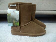 NWT Bearpaw Emma Girls Khaki Brown Suede Winter Boots Youth Size 1